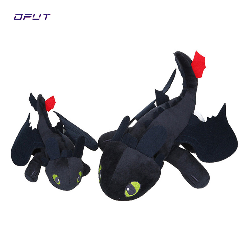 Night Fury Plush Toy How To Train Your Dragon 2 Plush Toy Toothless Dragon Stuffed Animal Dolls Movie Black image