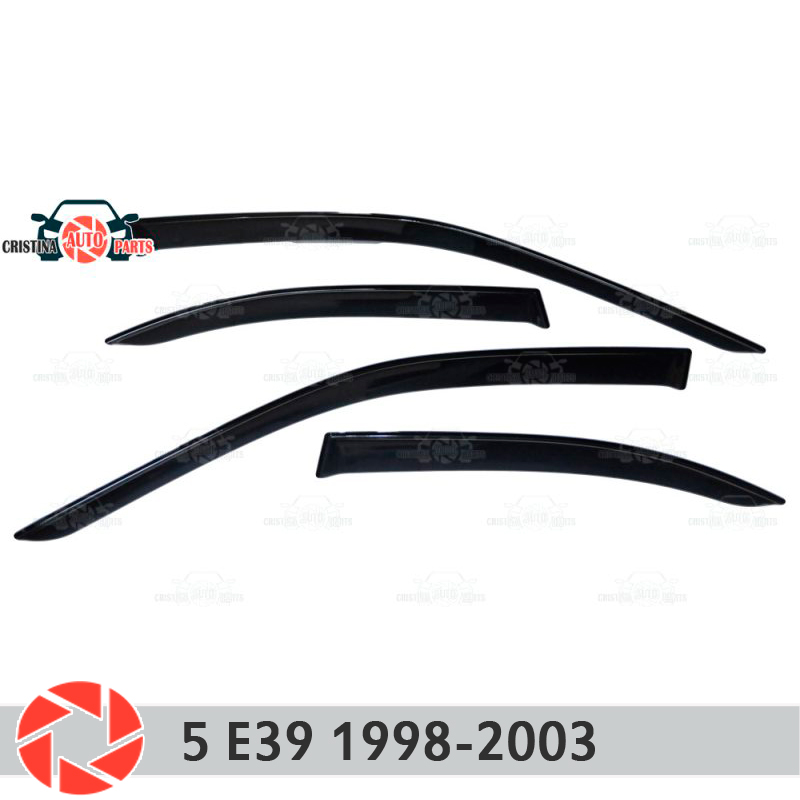 Window deflector for BMW 5 Series E39 1998-2003 rain deflector dirt protection car styling decoration accessories molding turbo cartridge chra gt2052v 710415 5003s 710415 710415 0003 turbocharger for bmw 525d e39 00 for opel omega b 2 5l m57d 163hp