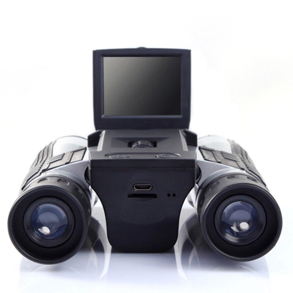 цена на 2018 Zoom Binoculars Telescope Folding Vision hunting HD Digital Telescope 12 Times Zoom Sports Camera Field Camera Binocular