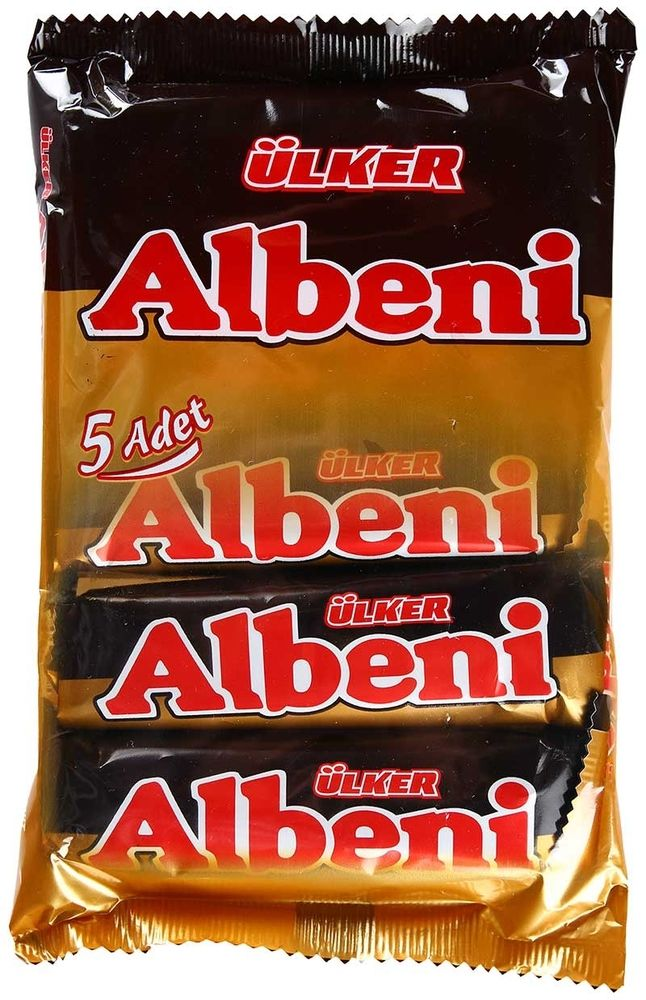 ETI Ulker Albeni Milk Chocolate Coated Bar Caramel Biscuit Turkish