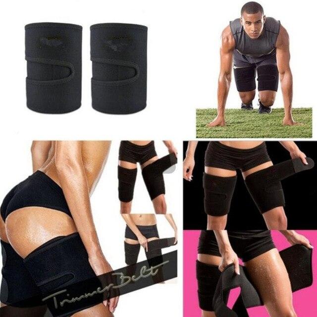 HEYME Men Women Leg Shaper Sauna Sweat Thigh Warmer Slender Slimming Wraps Legs Fat Thermo Neoprene Compress Massage Belt 4