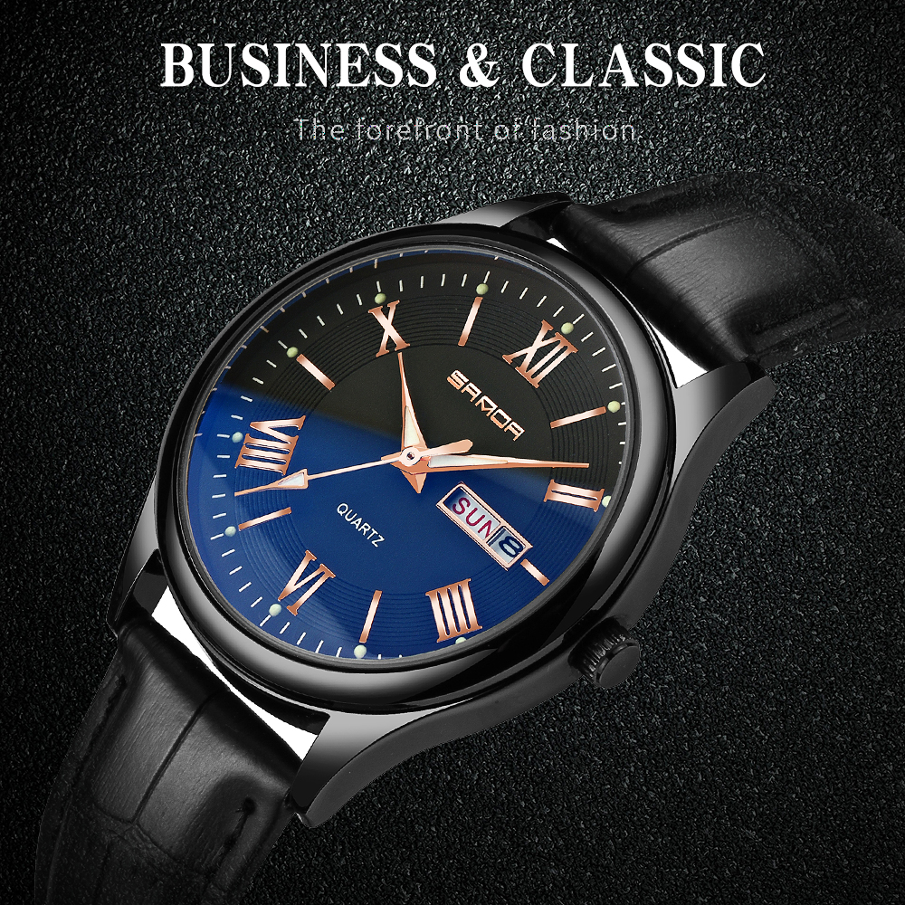 Männer Uhren Neue Design Männliche Uhr Wasserdichte Uhr Leder - Herrenuhren