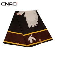 CNACI Bird Design 100% Polyester African Fashion Real Wax Veritable Wax 6 Yards Ankara Wax Print Tissu Fabric For Patchwork