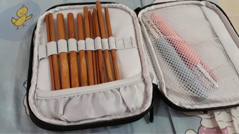 Acessórios de costura bolsos agulhas crochê