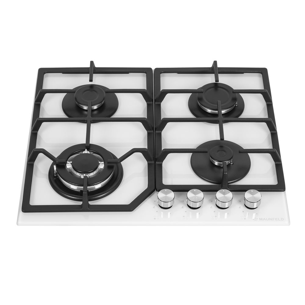 Cooking panel MAUNFELD EGHG.64.43CW/G White cooking panel maunfeld eghg 64 2cw g white