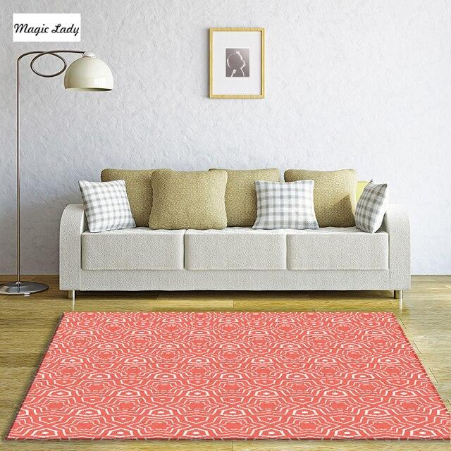 Teppich Wohnzimmer Moderne Schlafzimmer Dekorationen Muster Sterne Figuren  Geometrische Kreise Linien Textur Formen Kulturellen Rot Beige