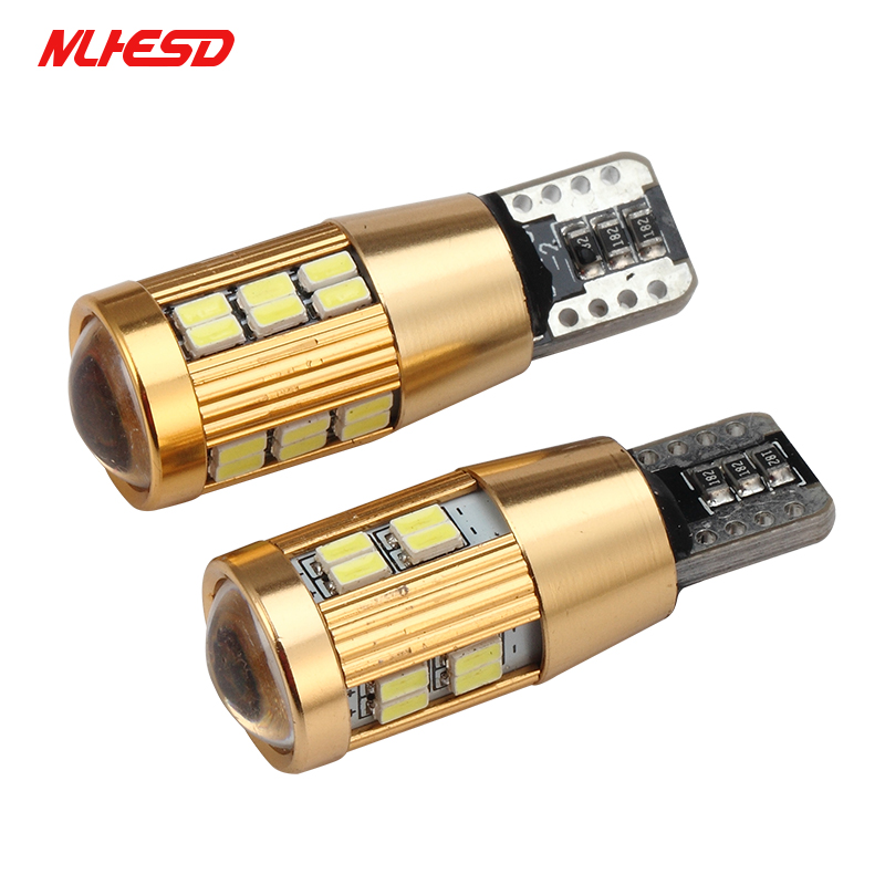10PCS <font><b>T10</b></font> LED <font><b>3014</b></font> <font><b>30SMD</b></font> 22SMD W5W Canbus LED Clearance Lights Auto Licence Plate Light Car Width Light Parking Backup Lamp image