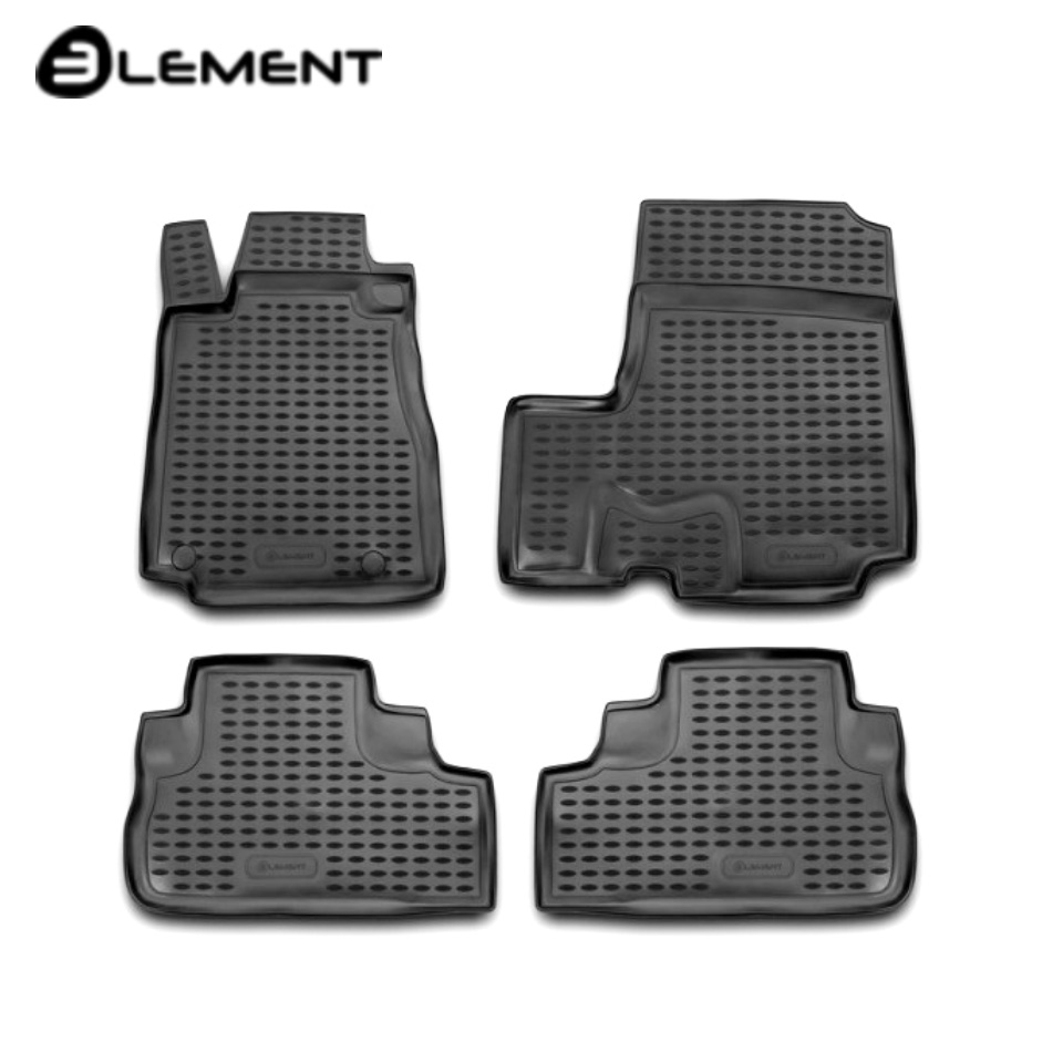 For Honda CR-V III 2007-2011 floor mats into saloon 4 pcs/set [Element NLC1815210K] full set cables for digiprog iii odometer programmer