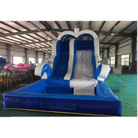 Dolphin inflatable pool slide pvc inflatable water slide pool slide