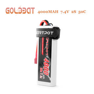 GARTPOT Lipo Battery 7.4V 4000mAh 50C 2S Battery lipo RC Packs Hardcase with Deans T Plug for RC Truck RC Car Losi Traxxas Slash