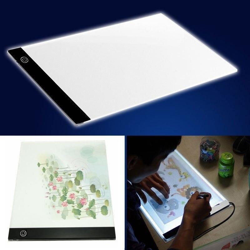 A5 графический планшет прочный чертежный светильник в виде планшета коробка Трассировка доска мини аниме USB IP65 5 в акриловая Электроника