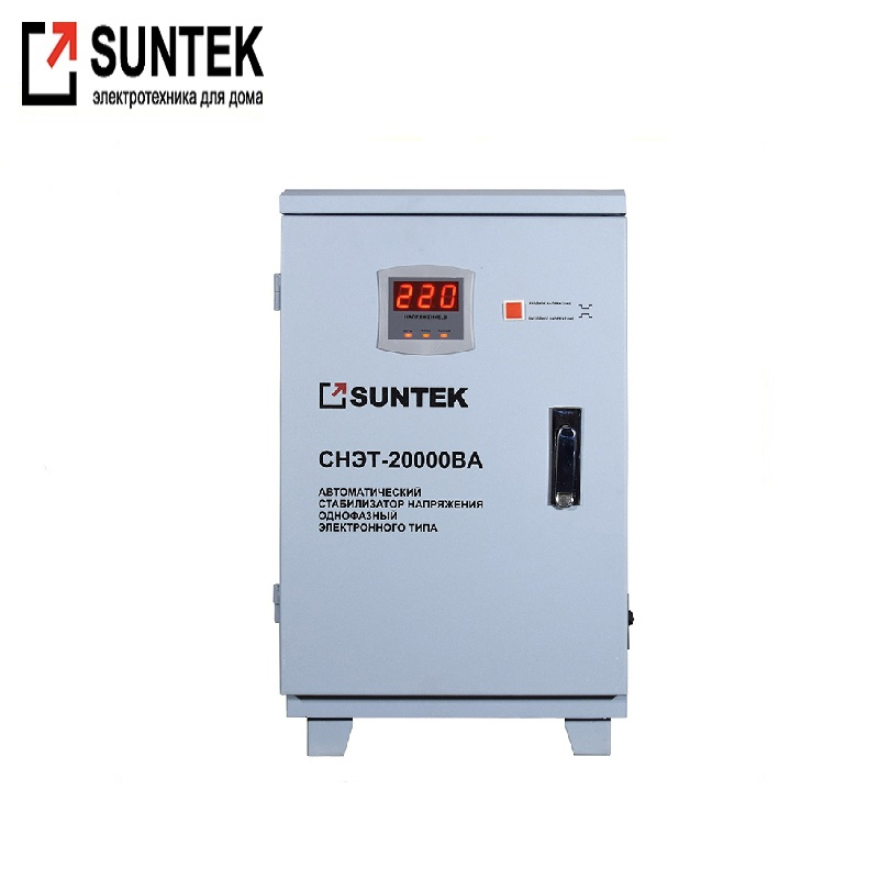 Relay voltage regulator SUNTEK 20000 VA Voltage regulator Automatic voltage regulator Power stab Constant-voltage source 40a 220v automatic recovery reconnect over under voltage protection relay