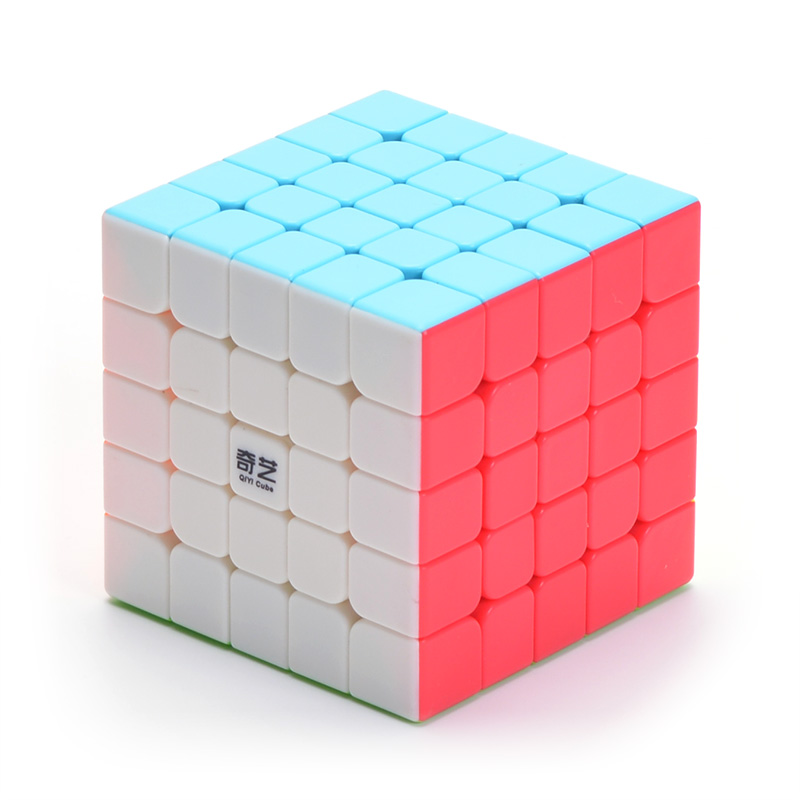 QIYI 5x5x5 Magic Speed Cube Stickerless Puzzle Cube Size 6.2cm Magic Cube Classic Educational Toys for Adults or Children Gifts