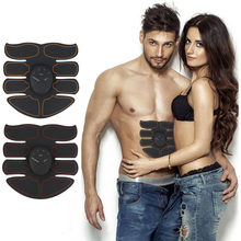 1 Set Unisex Healthy Ultimate Ultra Thin ABS Stimulator Abdominal Muscle Exerciser Durable Sticker Pad Fitness weight loss Tool(China)