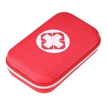 Фотография Portable First Aid Emergency Medical Kit Survival Bag Empty Medicine Hard Storage Bag Travel Outdoors Camping Pill Storage Bag