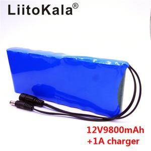 Image 3 - HK LiitoKala 12 V 9800 mAh 18650 DC 12 V 12.6 V Super zestaw akumulatorowy ue/usa adapter wtyczki dla KAMERA TELEWIZJI PRZEMYSŁOWEJ wideo akumulator przenośny