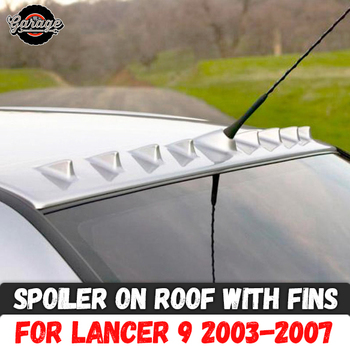 Спойлер на крыше с ребрами для Mitsubishi Lancer 9 2003-2007 ABS пластик навес Аэро крыло литье украшение Тюнинг автомобиля Стайлинг