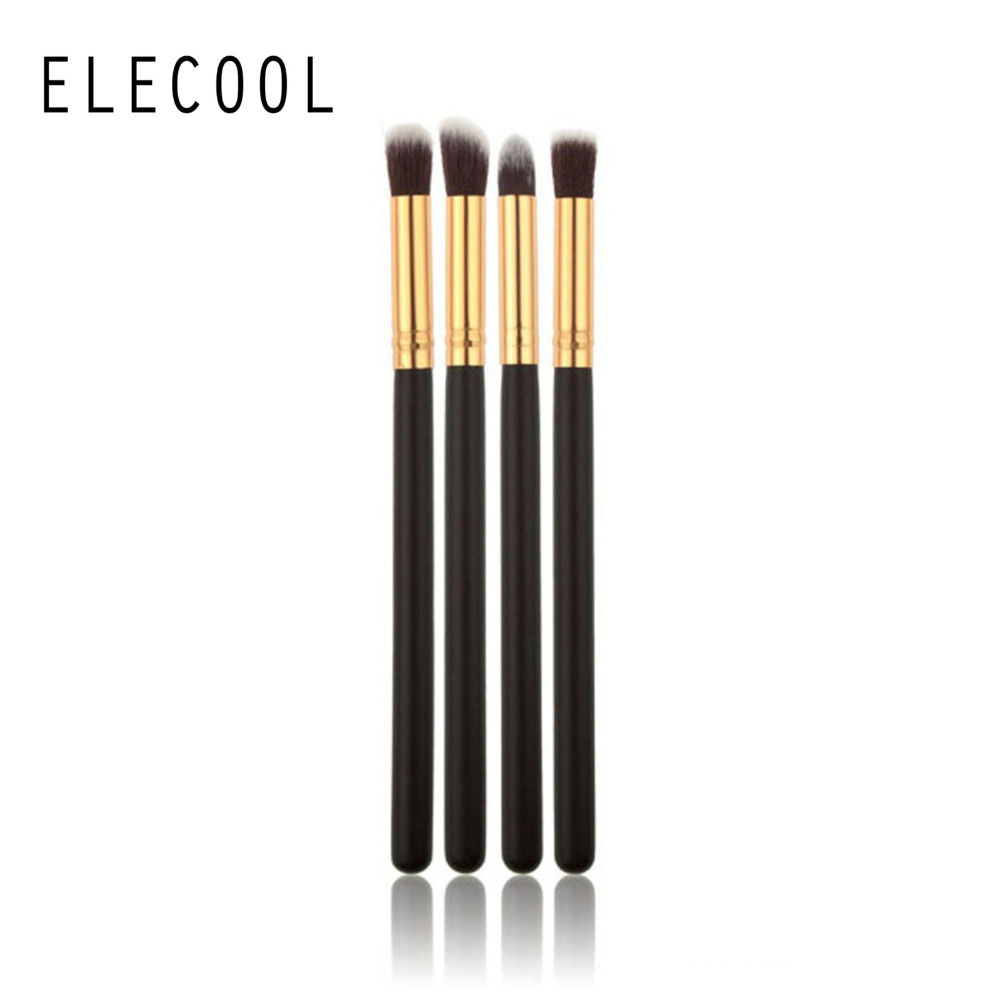 Eye Shadow Applicator Beauty & Health Elecool 1pcs Handmade Rattan Tapered Make Up Brushes Black Powder Brush Professional Goat Hair Makeup Tool