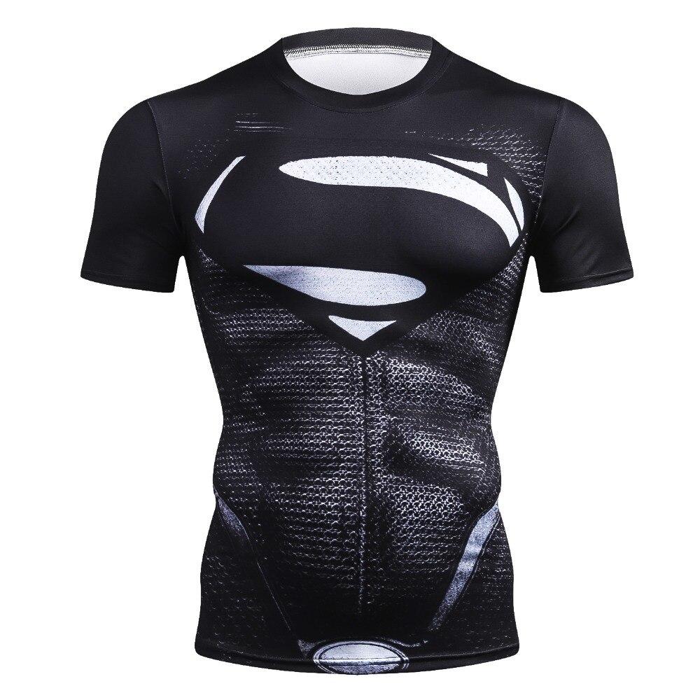 2018 New Brand Fitness Compression T-Shirt Men Superman Short Sleeve 3D Exercise Tops Men T Shirt Summer Fashion Casual Tshirt