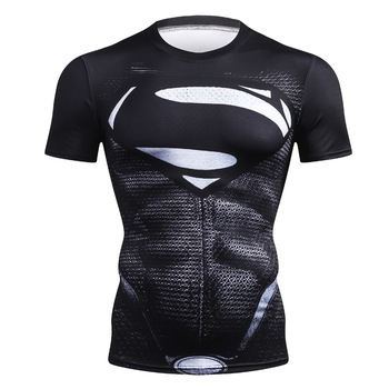 2020 New Brand Fitness Compression T-Shirt Men Short Sleeve 3D Exercise Tops Men T Shirt Summer Fashion Casual Tshirt