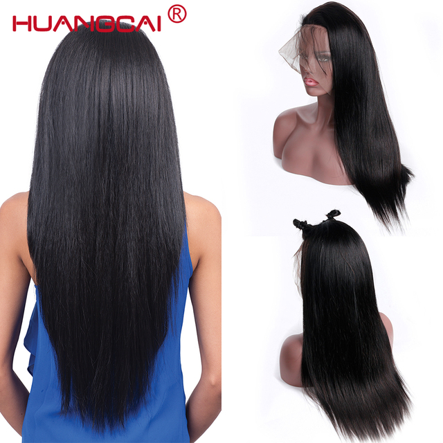 360 Lace Frontal Wig With Baby Hair Pre Plucked Brazilian Straight Lace Front Human Hair Wigs For Women Remy Black Human Wigs