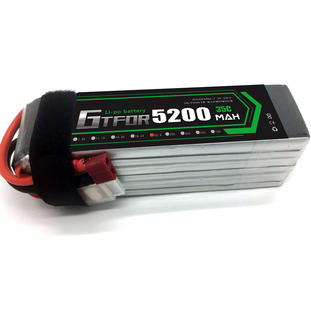 GTFDR RC <font><b>LiPo</b></font> battery <font><b>6S</b></font> <font><b>5200mah</b></font> 35C 22.2V Li-Po Batteria <font><b>6S</b></font> for RC Model Aircrft Quadrotor Airplane Helicopter Drone AKKU image