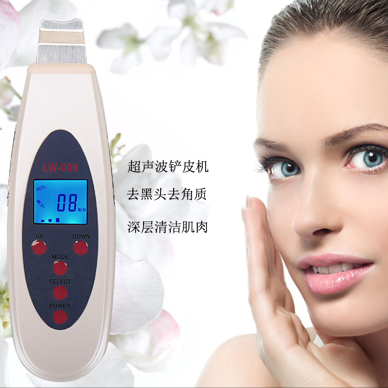 ACEVIVI LCD Ultrasonic Face Skin Cleanser Face Cleansing Acne Removal Pore Peeling Tone Lift ultrasonic Clean Facial Massager ultrasonic skin scrubber cleanser face cleansing acne removal facial massager ultrasound peeling clean tone lift