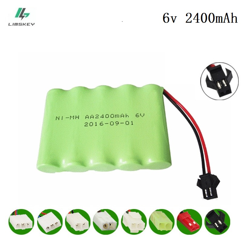6V 2400mAh Remote Control toy electric lighting lighting security facilities AA battery RC TOYS GUN Ni-MH battery group SM Plug 6v 2800mah m style high capacity aa ni mh rechargeable battery for electric toys rc car rc truck rc boat jst sm tamiya plug