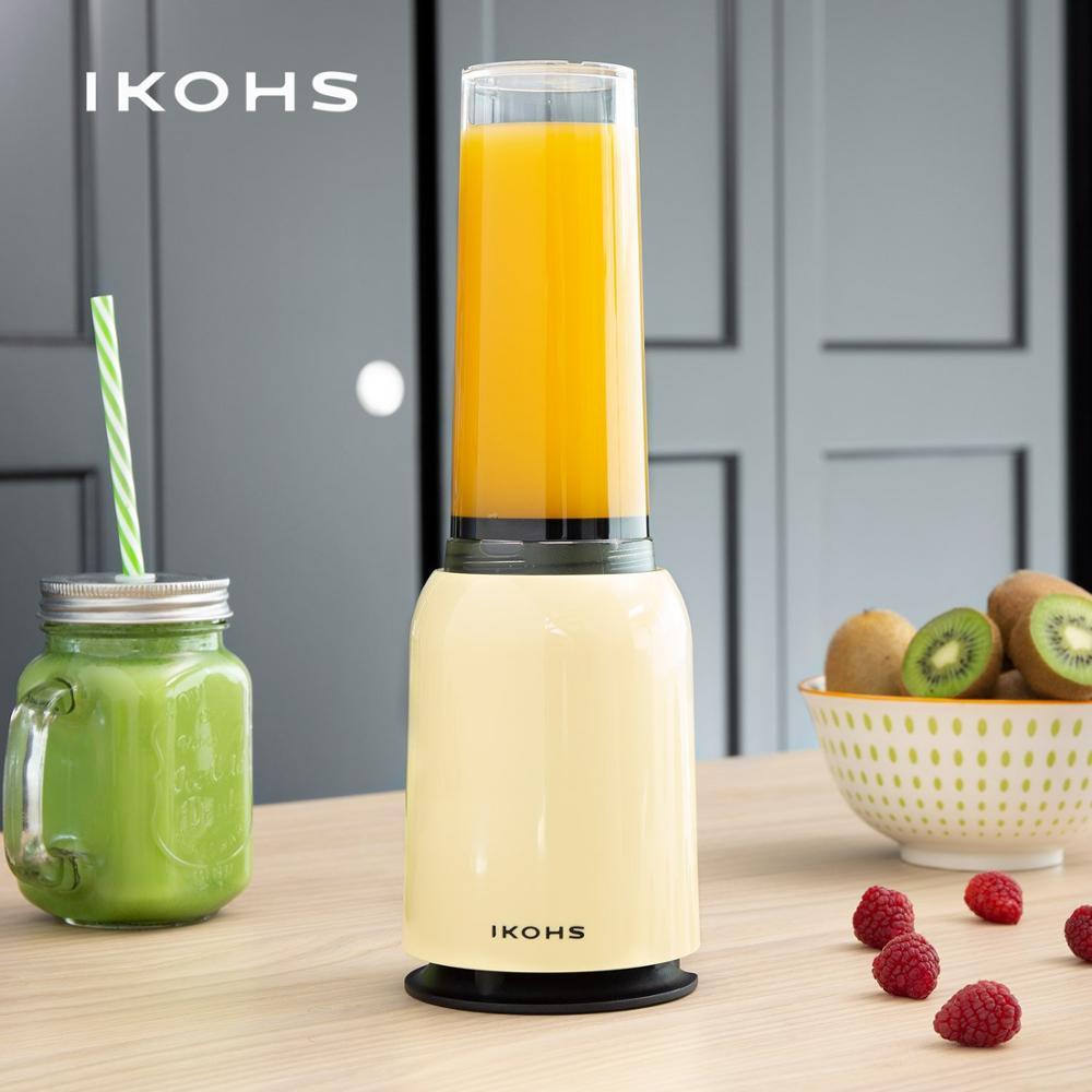 IKOHS MOI SLIM G.L.A.S.S BLENDER Beige Cream 400ml 234W Portable Blender Professional Dishwasher Compatible Fruit Citrus
