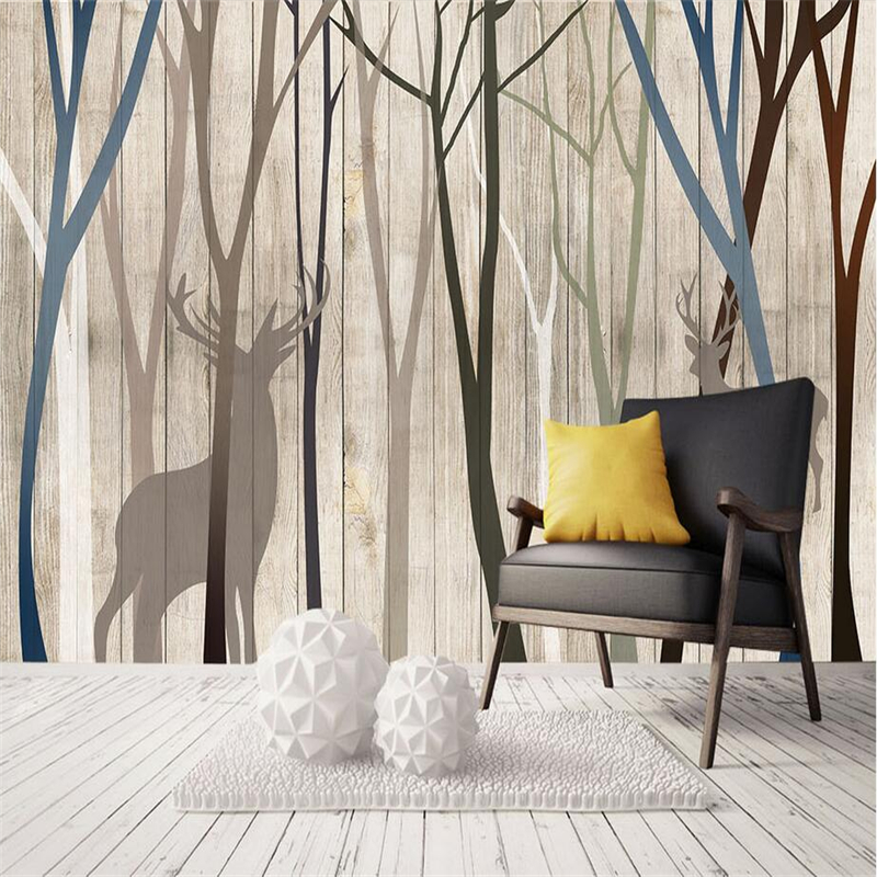 Custom 3D Murals Wall Papers Birch Photo Tree Wallpapers Bedroom Home Decor Forest Wallpapers Woods for Living Room Luxury Mural modern embossed 3d wallpapers rolls luxury striped wallpapers non woven desktop wall papers home decor bedroom walls coverings