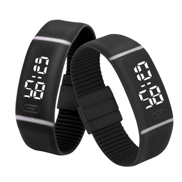 Men Women Rubber LED digital watch relogios Date Sports Bracelet Digital Wrist W