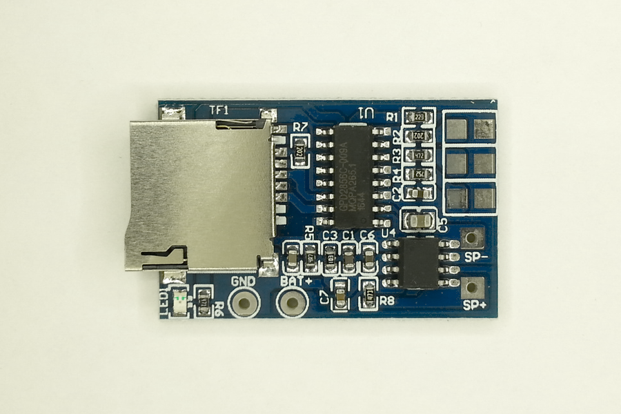 Hard-Working Mp3 Decode Module Dc 3.7v-5v Memory Play W/ Tf Card Socket Mono 2w Gpd2856c Decoding Play With Led Indicator Light Integrated Circuits Active Components