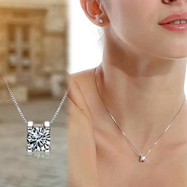 New Fashion Rhinestone Pendant Necklace Without Chain Silver Plated Jewelry Accessories For Girl