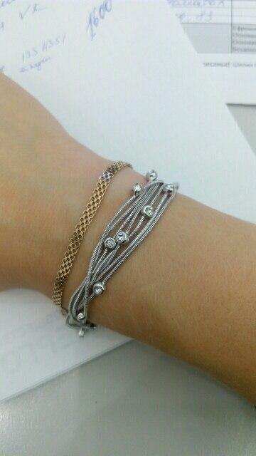 Multi-Layer Chain Austrian Crystal Bangle Bracelet*