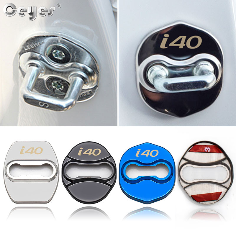 Ceyes Car Styling <font><b>Sticker</b></font> Accessories Fit For Hyundai I40 <font><b>Veloster</b></font> Veracruz Azera For Kia Ceed Door Lock Cover Protective Buckle image