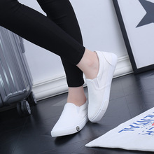 2018 New Women Shoes Canvas Shoes Female Spring And Summer White Breathable Couple  Shoes Female Footwear Flat Sneakers New
