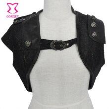 women slim femme outwear coat plus size Black Punk Style PU Corset Coat Casual Tops jaqueta