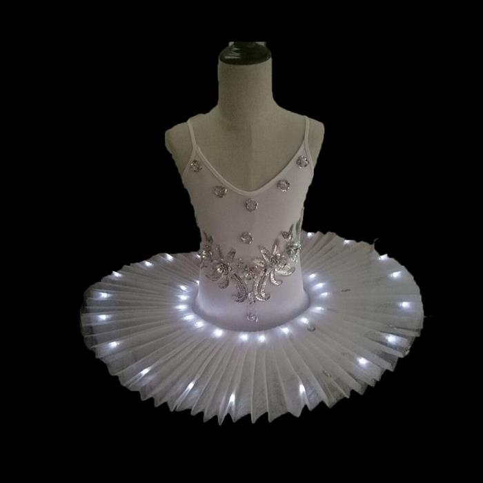 Led Light Swan Lake Ballet Tutu Costume Girls Ballerina Dress Kids light up Ballet Dress Dancewear Stage  Costumes