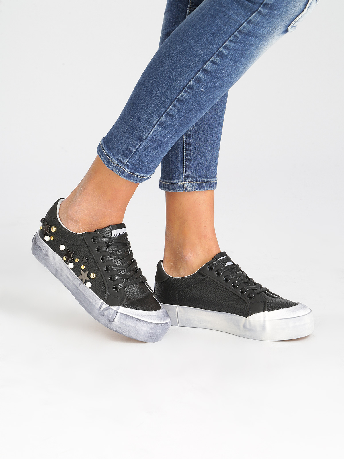Sneakers With Platform And Studs