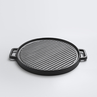 Fried steak two sided old cast iron pan thickened stripe Flapjack barbecue pot non stick electromagnetic furnace roasting pan