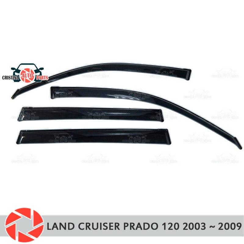 Ventana deflector para Toyota Land Cruiser Prado 120 2003 ~ 2009 lluvia deflector de suciedad estilo de coche accesorios de decoración de