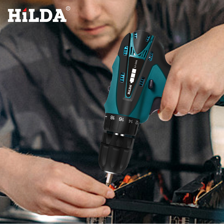 Image 5 - HILDA Electric Drill Cordless Screwdriver Lithium Battery  Mini Drill Cordless Screwdriver Power Tools Cordless Drill-in Electric Drills from Tools on
