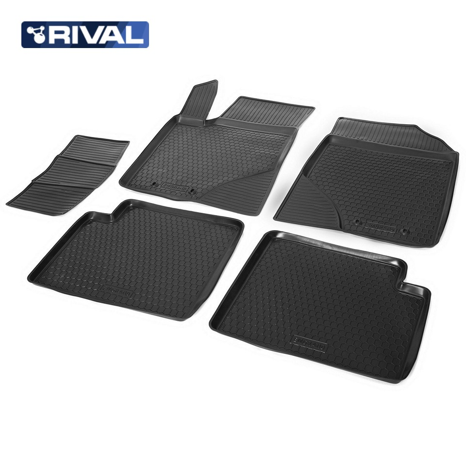 лучшая цена For Geely Emgrand EC7 sedan 2013-2018 floor mats into saloon 5 pcs/set Rival 11901001