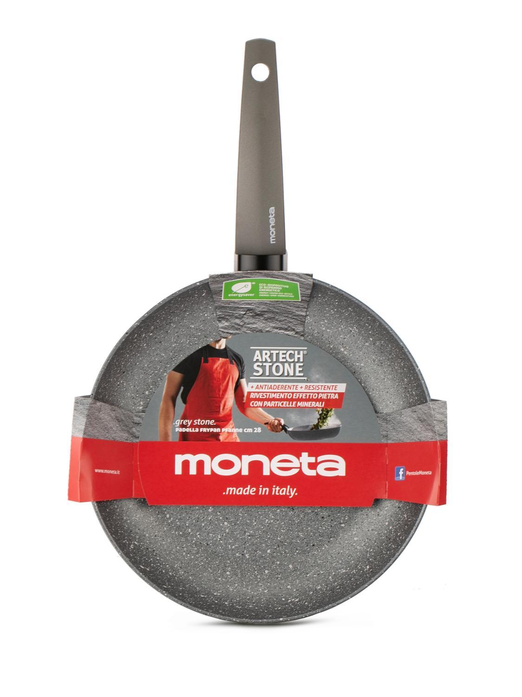 Сковорода Moneta Greystone, с антипригарным покрытием 28 см сковорода mercury с крышкой с антипригарным покрытием диаметр 28 см mc 6243