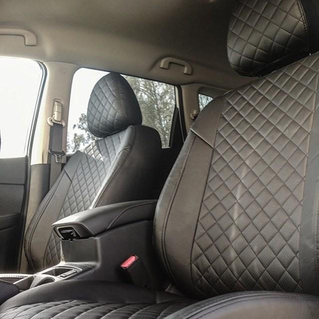 Для Nissan X-Trail T32 2015-2019 специальные чехлы для сидений автомобиля полный комплект автопилот из эко-кожи ROMB