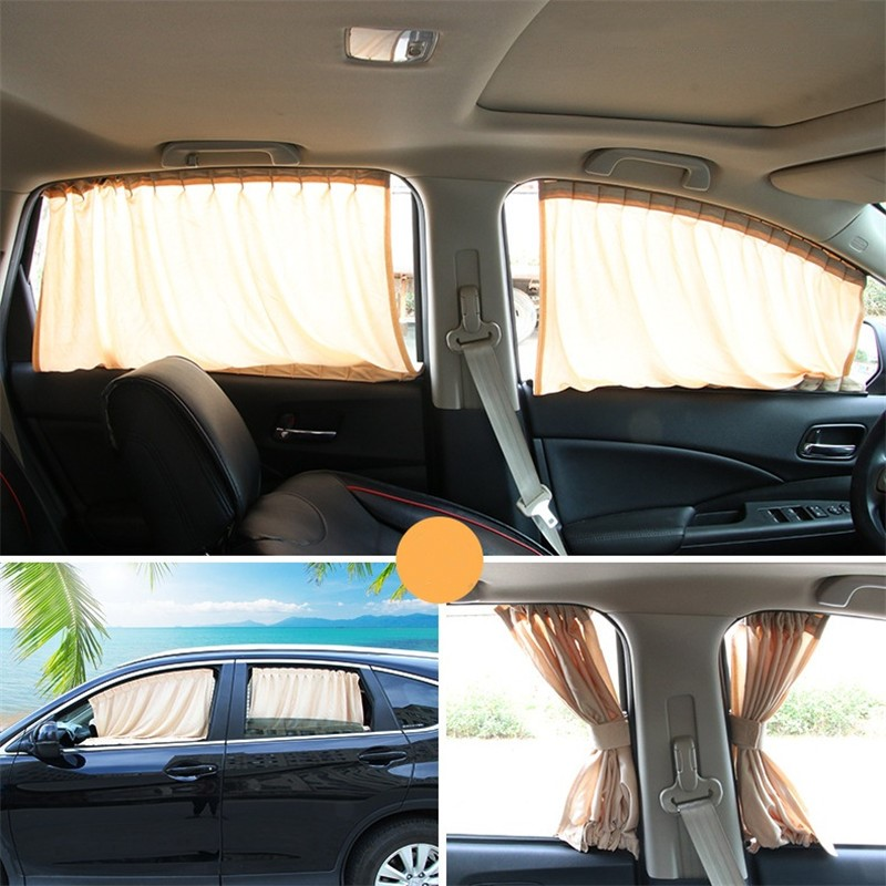 50L Car Side Window Sun Protection Track Privacy Privacy Sun Shade in Side Window Sunshades from Automobiles Motorcycles