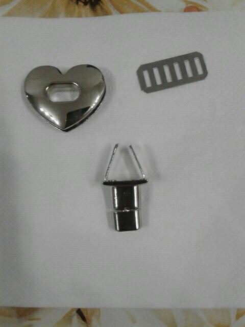 THINKTHENDO 1PC Hartvorm Sluiting Turn Lock Twist Lock Metalen Hardware Voor DIY Handtas Tas Purse photo review