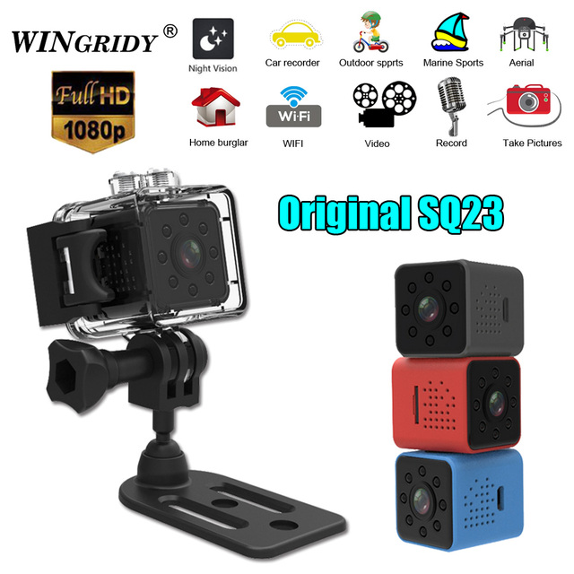 SQ23 WiFi Cam Mini videocamera originale videocamera Full HD 1080P Sport DV Recorder 155 visione notturna piccola Action Camera DVR pk sq13