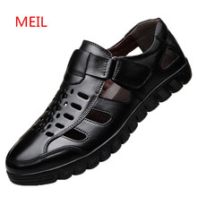 Summer Dress Genuine Leather Shoes Men Business Casual Shoes Fashion Italian Mens Leather Formal Office Shoes for Men Loafers цены онлайн