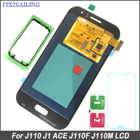 FIX2SAILING Super AMOLED LCD For Samsung Galaxy J1 Ace J110 SM J110F J110H J110FM LCD Display Touch Screen Digitizer Assembly